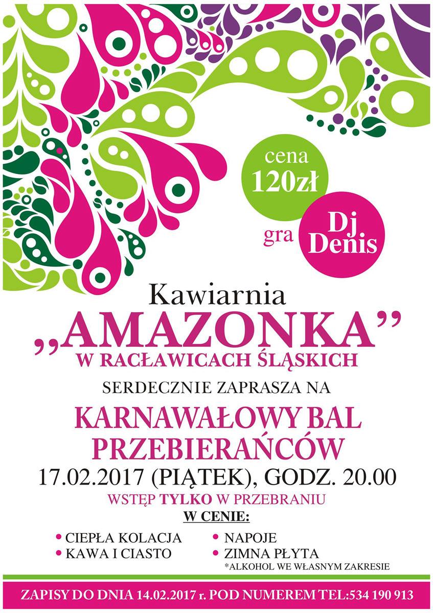 Zaproszenie Na Karnawałowy Bal Przebierańców Racławice śląskie